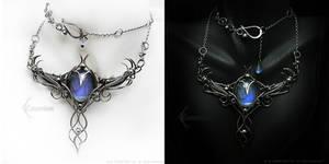 AZERRTIAL LUNA Silver, Rainbow Moonstone, Opalite