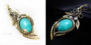 LIYEEVILTH Silver, Brass and Amazonite