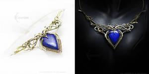 UVERELL ARRAX - brass, silver and lapis lazuli