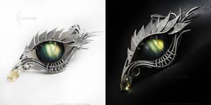 ERRAZH Dragon'e eye with labradorite by LUNARIEEN