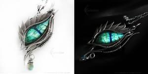 THERALIUSH Dragon's Eye Silver and Labradorite by LUNARIEEN