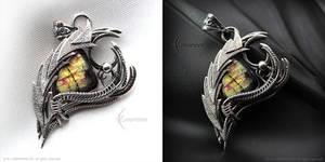 XIREICRANTH Dragon's Eye - Silver and Labradorite