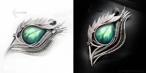ADARRMAHX Dragon's Eye- Silver and Labradorite