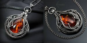 YAZTRILL - Silver and Amber by LUNARIEEN