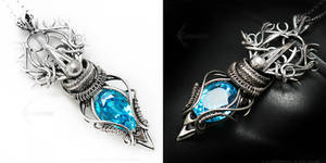 AMADERLIEELH Silver,blue zirconia and topaz