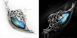 MADARELITH Silver and Labradorite by LUNARIEEN