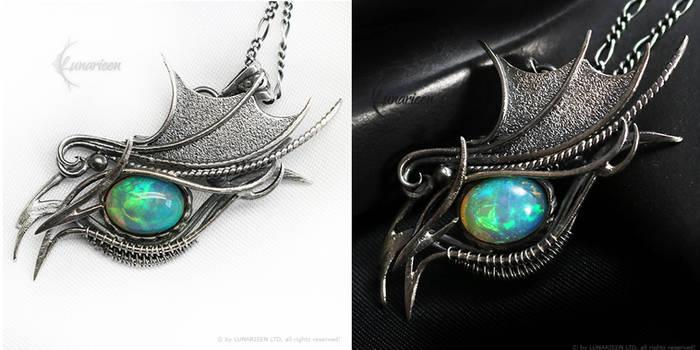 DARAHMADAR Silver and Ethiopian Opal