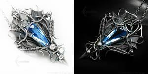 LUNARAMADARH Silver, Blue Quartz and Topaz by LUNARIEEN