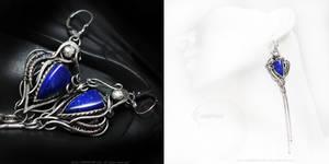 EZADAMERTH Silver and Lapis Lazuli