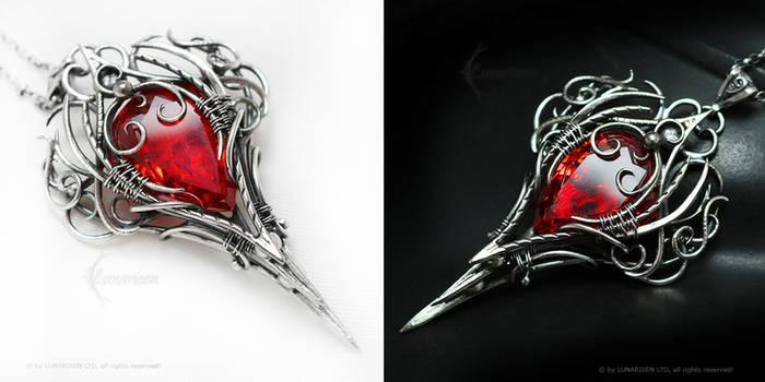 IZEERADAMIX Silver and Red Zirconia