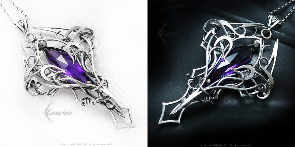 LARRAMADEHTH Silver and Amethyst by LUNARIEEN