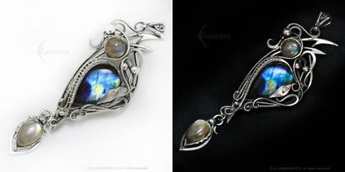 DIMARINARTH - Silver and Labradorite by LUNARIEEN