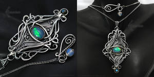 XEETHERNAL -  Silver, Opal and Labradorite