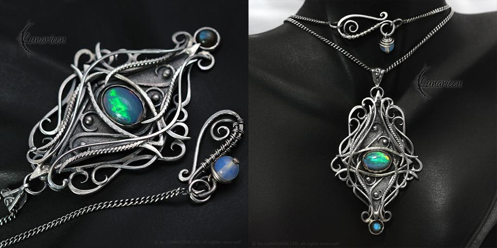 XEETHERNAL -  Silver, Opal and Labradorite by LUNARIEEN