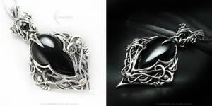 IRRADMANARD Silver and Black Onyx