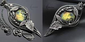 NEZRIA NYRILL - Silver and Labradorite