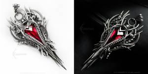 ARDARIEEMELTH  Silver and Red Quartz