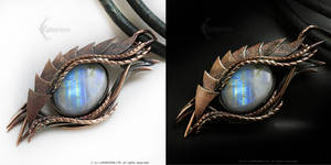 Dragon's Eye Copper and Moonstone