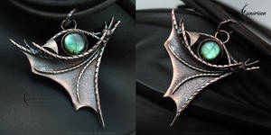 FYTHARRN DRACO - Dragon's Eye pendant by LUNARIEEN