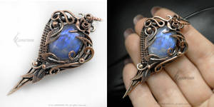 LUNNAVERTH Copper and Moonstone by LUNARIEEN