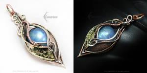 ARKAVILTH Silver,Copper,Brass, Moonstone by LUNARIEEN