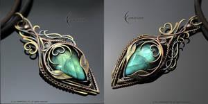 LYLENDNYAR - brass, silver, copper, labradorite