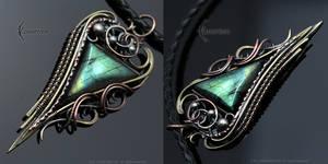 FHERN UNGTAAR  brass, silver, copper, labradorite by LUNARIEEN