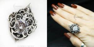 IMARRITH Silver and Zirconia Cubic by LUNARIEEN
