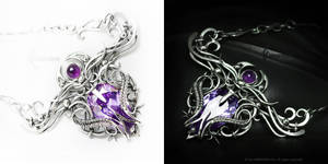 LEENTURIELTH Silver,Zirconia and Amethyst by LUNARIEEN