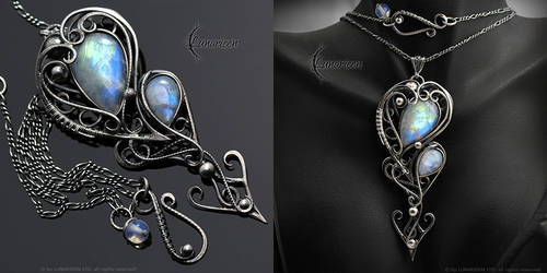 ENQUANDIER - Silver and Moonstone by LUNARIEEN