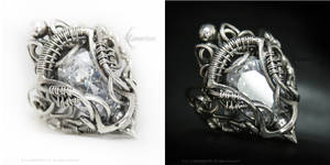 UVELLENTIEER Silver and Cubic Zirconia by LUNARIEEN