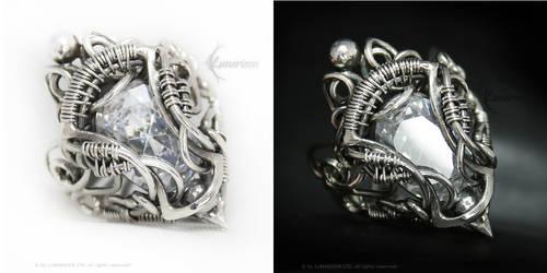 UVELLENTIEER Silver and Cubic Zirconia by LUNARIEEN