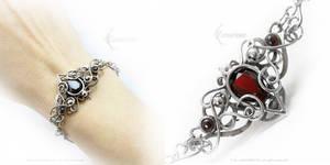 UTARIEELH Silver, Red Quartz, Garnet