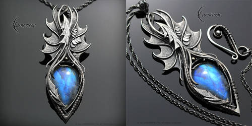 EFEHRAL NYHTRU  Gothic Dragon style necklace by LUNARIEEN