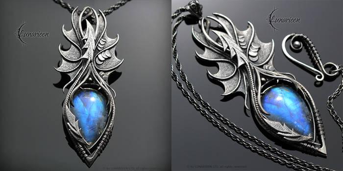 EFEHRAL NYHTRU  Gothic Dragon style necklace by LUNARIEEN