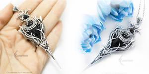 KYINRATH Silver Black Onyx, Black Diamond