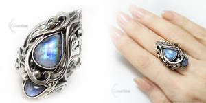 ELTERIEENTH Silver and Moonstone by LUNARIEEN