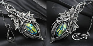 NYRIEEL FHARN - Gothic Dragon style necklace