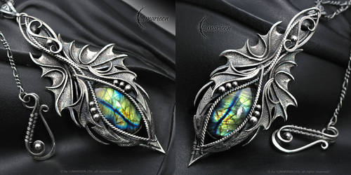NYRIEEL FHARN - Gothic Dragon style necklace by LUNARIEEN