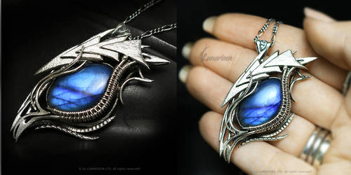 ESSERALH DRACO Silver and Labradorite by LUNARIEEN