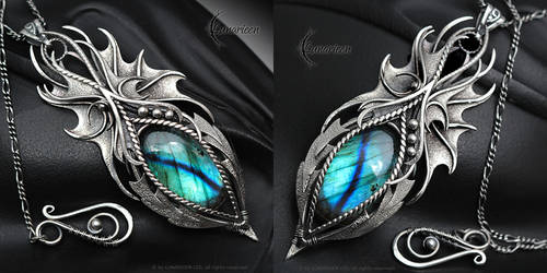 THERYN NYHTERIA - Gothic Dragon style necklace by LUNARIEEN