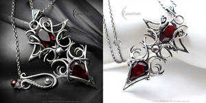 NEEINALTUS -  gothic style necklace by LUNARIEEN
