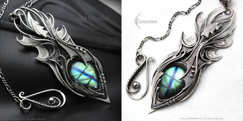 XANGRHAAR - Gothic Dragon style necklace. by LUNARIEEN