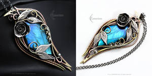 MESTRIEL TISSAYRI - Floral style pendant. by LUNARIEEN