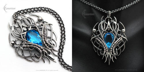 XEQUARN - gothic style pendant.