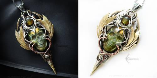 ETHERRAH Silver,brass,bronze,copper, labradorite