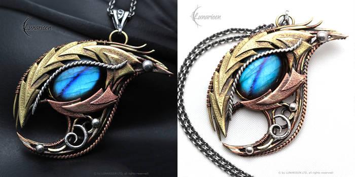 FHERNYR DRACO gothic style necklace, Dragon's Eye