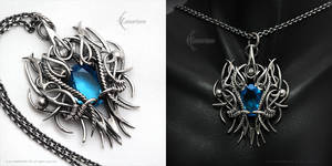 XAQHNEER - gothic style pendant. by LUNARIEEN