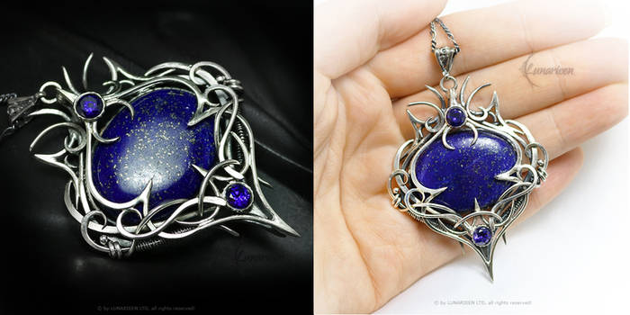 ENNERITH Silver, Lapis Lazuli, Zirconia, Sapphire