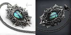 EXANGNAR - gothic style pendant.